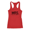 Mrs. {with Est. Date} Flowy Racerback Tank /// Honeymoon Shirts, Just Married Shirts, Couples Shirts