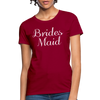 Women's Bridesmaid Shirts | Bachelorette Party Shirts | Maid Of Honor Shirts | Bridal Party Shirts - dark red