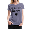 Women's Premium Couples I Like His Beard Shirt with Image - washed violet