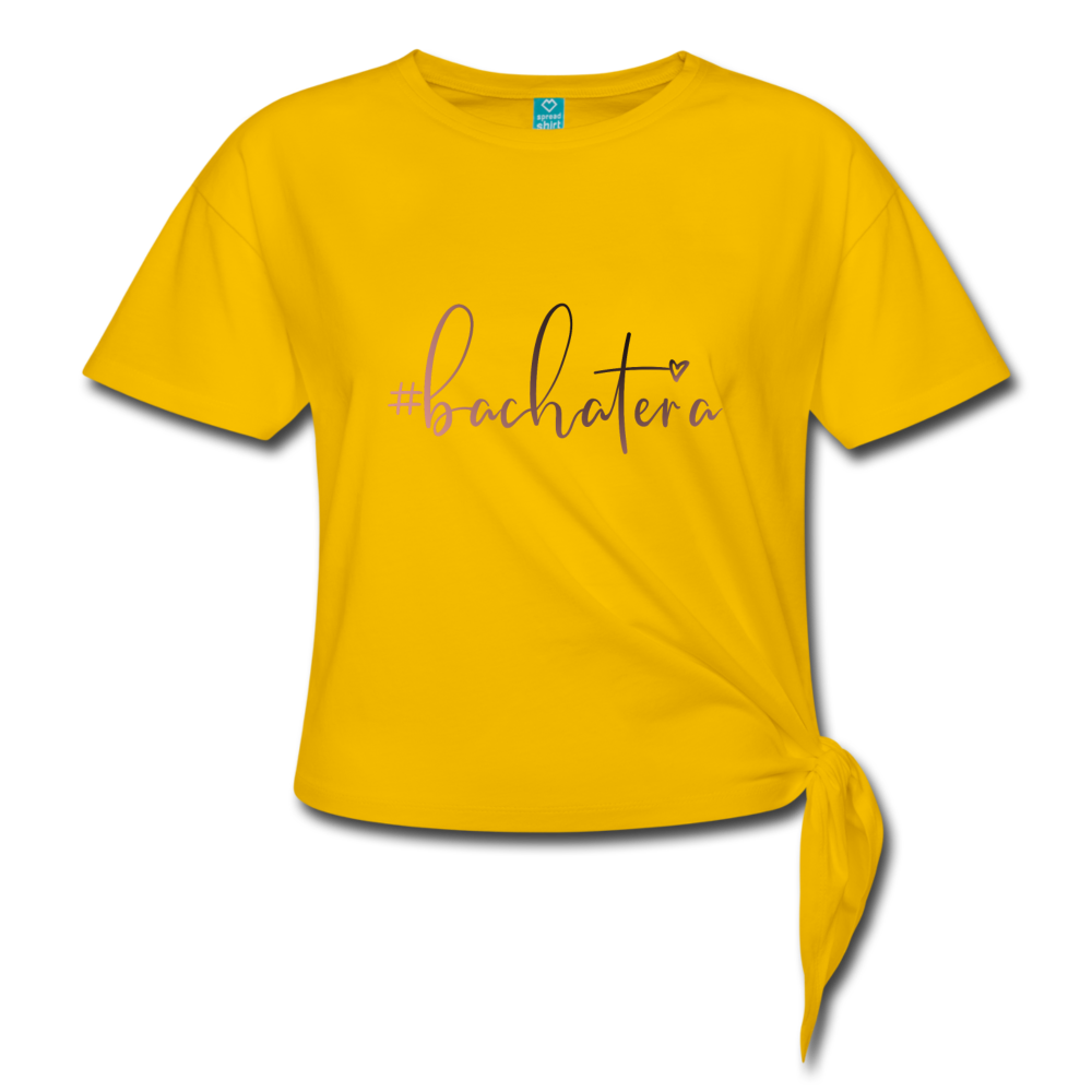 #bachatera Women' s Knotted T-Shirt - sun yellow