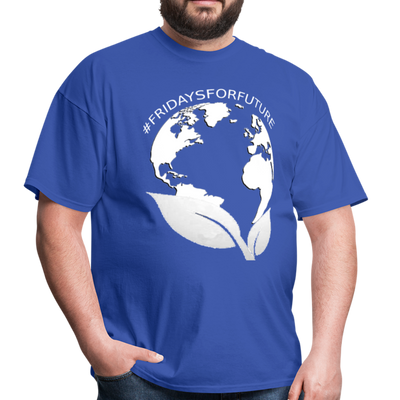 Fridays for Future - Climate Strike - Adult Unisex Tee T-Shirt - royal blue