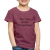 Premium Custom Toddler Shirt | Personalized Kids Shirt | Custom Baby Shirt | Custom Kids Shirt| Custom Toddler Shirt | - heather burgundy