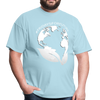 Fridays for Future - Climate Strike - Adult Unisex Tee T-Shirt - powder blue