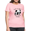 Just a Girl Who Loves Pandas Women's T-Shirt - pink
