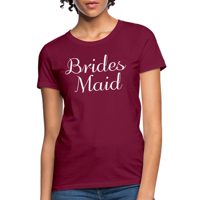 Women's Bridesmaid Shirts | Bachelorette Party Shirts | Maid Of Honor Shirts | Bridal Party Shirts - burgundy
