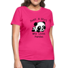 Just a Girl Who Loves Pandas Women's T-Shirt - fuchsia