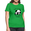 Just a Girl Who Loves Pandas Women's T-Shirt - bright green