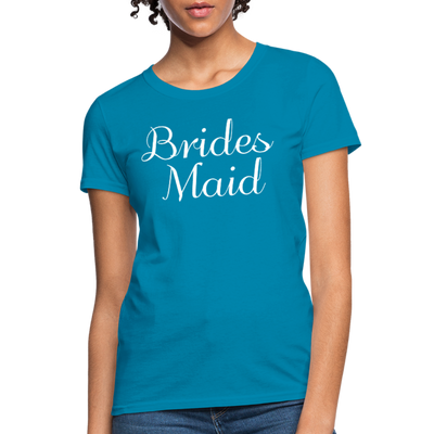 Women's Bridesmaid Shirts | Bachelorette Party Shirts | Maid Of Honor Shirts | Bridal Party Shirts - turquoise