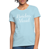Women's Bridesmaid Shirts | Bachelorette Party Shirts | Maid Of Honor Shirts | Bridal Party Shirts - powder blue