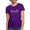 Women's Bride T-Shirt Bridesmaid Shirts | Bachelorette Party Shirts | Maid Of Honor Shirts | Bridal Party Shirts - purple