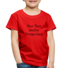 Premium Custom Toddler Shirt | Personalized Kids Shirt | Custom Baby Shirt | Custom Kids Shirt| Custom Toddler Shirt | - red