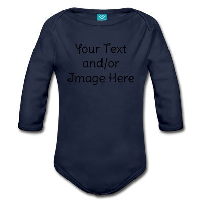 Custom Onesie® | Personalized Onesie® | Custom Baby Onesie® | Custom Baby Shirt | Baby Shower Gift | Custom Toddler Shirt | - dark navy