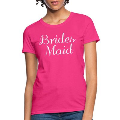 Women's Bridesmaid Shirts | Bachelorette Party Shirts | Maid Of Honor Shirts | Bridal Party Shirts - fuchsia
