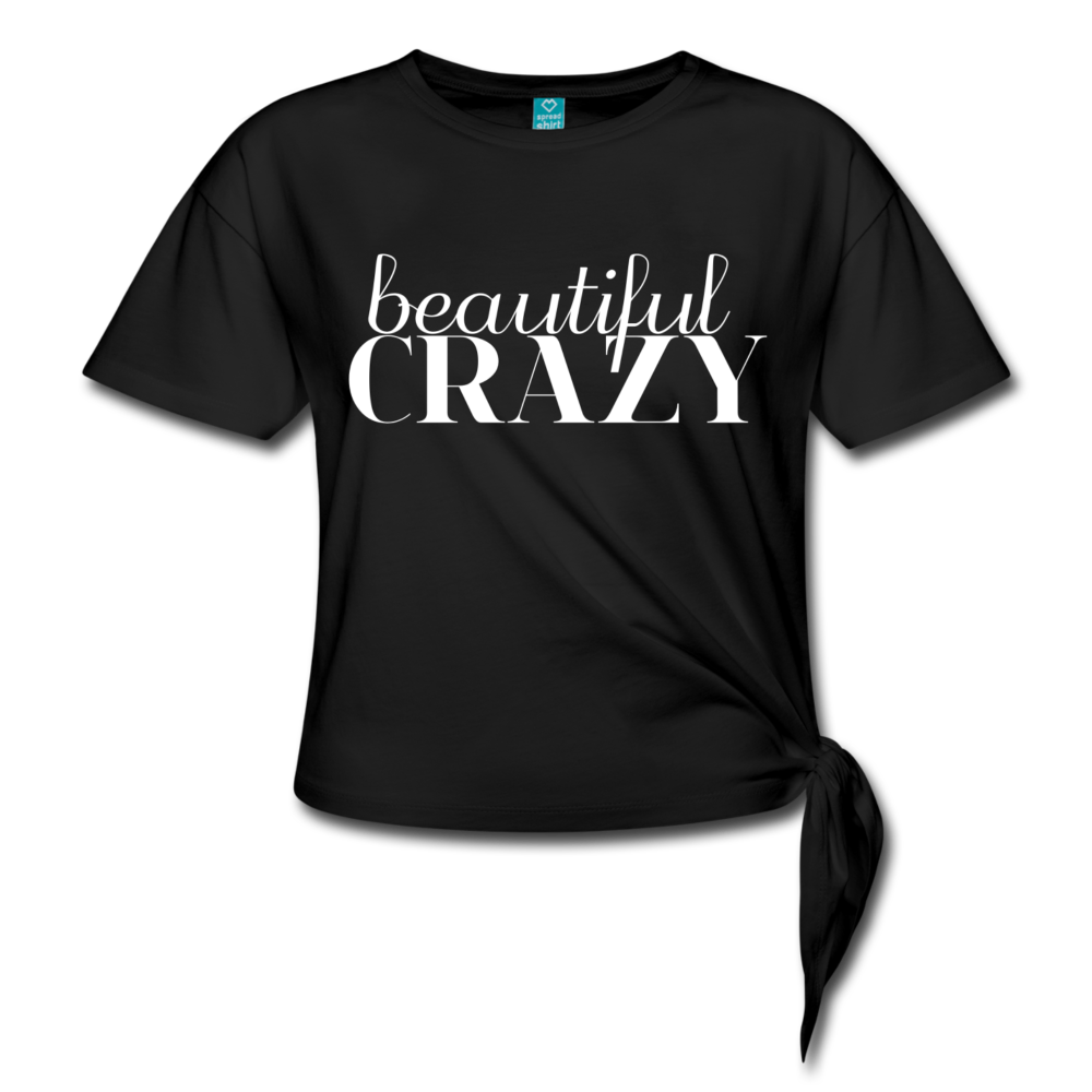 Beautiful Crazy Shirt, Country Music Shirt Country Concert T-shirt Country Girl Shirt Girls Country Music Festival Shirt Womens ShirtsWomen's Knotted T-Shirt - black