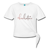 #bachatera Women' s Knotted T-Shirt - white