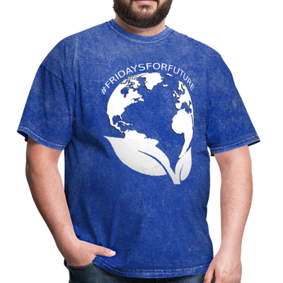 Fridays for Future - Climate Strike - Adult Unisex Tee T-Shirt - mineral royal