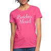 Women's Bridesmaid Shirts | Bachelorette Party Shirts | Maid Of Honor Shirts | Bridal Party Shirts - heather pink