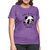 Just a Girl Who Loves Pandas Women's T-Shirt - purple heather