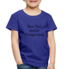 Premium Custom Toddler Shirt | Personalized Kids Shirt | Custom Baby Shirt | Custom Kids Shirt| Custom Toddler Shirt | - royal blue