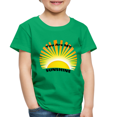 Premium You Are My Sunshine Shirt / Women's Shirt / Women's Clothes / Vintage Retro Style Tee / Ladies Graphic T-shirt / You Are My Sunshine Tee - kelly green