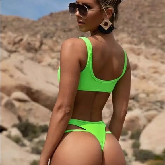 In-X Neon High cut bikinis