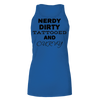 Nerdy Dirty Tattooed And Curvy Bella Flowy Tank