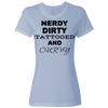 Nerdy Dirty Tattooed And Curvy Ladies Classic Tees