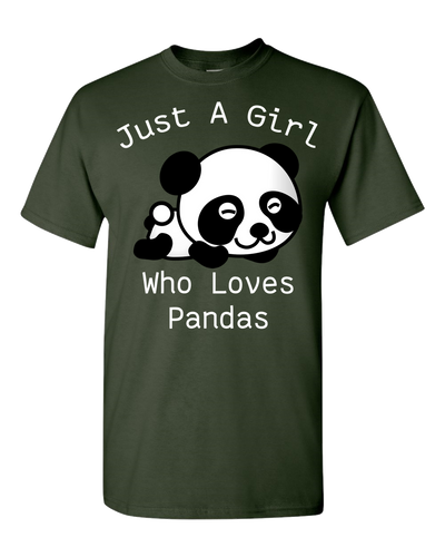 Panda Lover Adult Unisex T-Shirt White Text