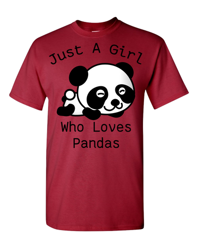 Panda Lover Adult Unisex T-Shirt Black Text