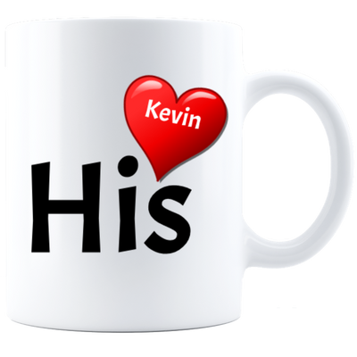 Custom His With Heart Mug