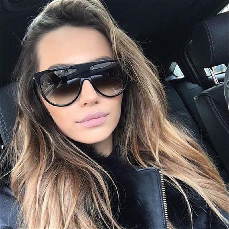 Vintage Retro Flat Top Thin Shadow Sunglasses