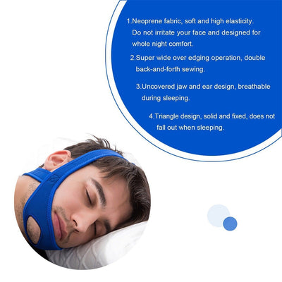 Anti Snore Chin Strap Stop Snoring Sleep Apnea Belt Jaw Support solution Safety