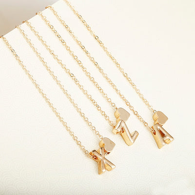 Personalized gold initial necklace