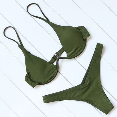 Underwire Brazilian Bikini Swimsuit
