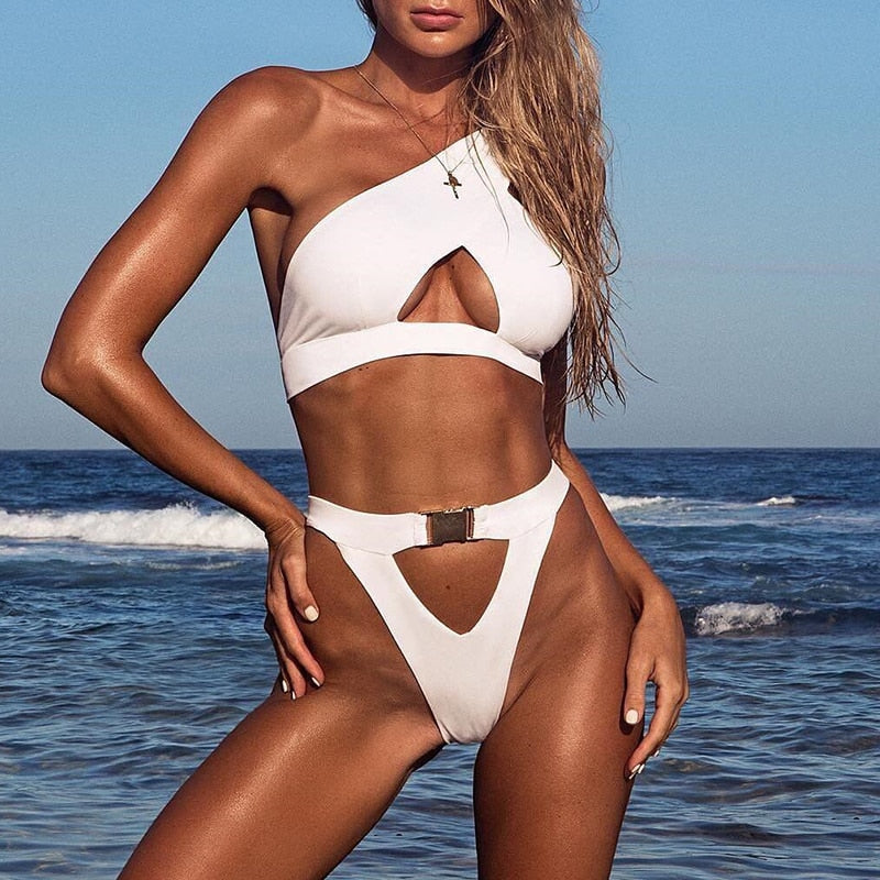X One shoulder bikini