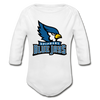Blue Jays Organic Long Sleeve Baby Bodysuit - white