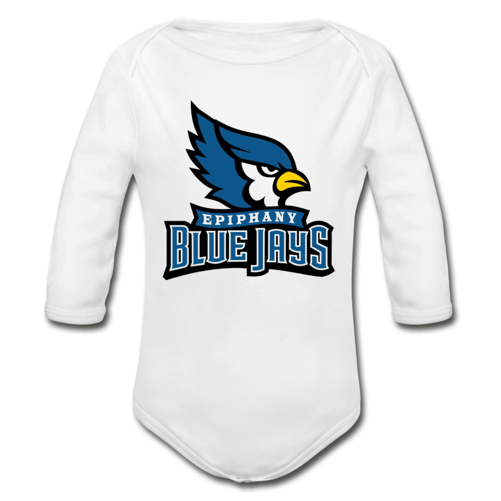 Blue Jays Organic Long Sleeve Baby Bodysuit