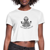Let that Sh@t go Cropped T-Shirt - white