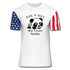 Just a Girl Who Loves Pandas Stars & Stripes T-Shirt - white