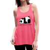 I can't Adult Today Women's Panda Flowy Tank Top by Bella - neon pink