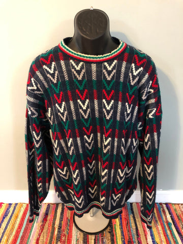 80s Funky Epic Pattern Sweater