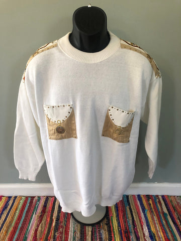 80s Cowboy Horse Western Sweater