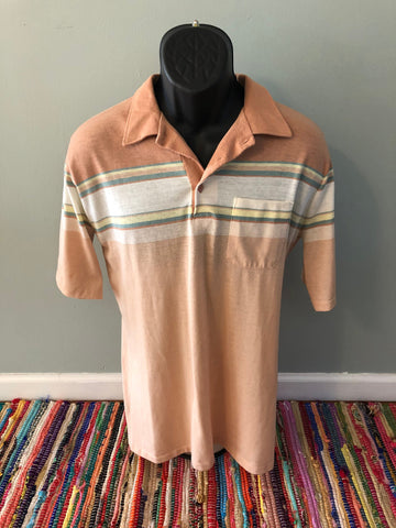 70s Stripe Polo Rugby Shirt