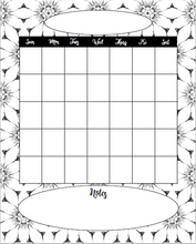 Coloring Daisies: 8x10 printable weekly planner