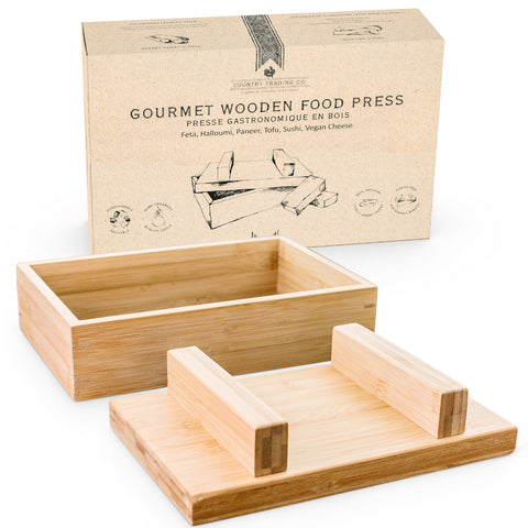 wooden cheese tofu press