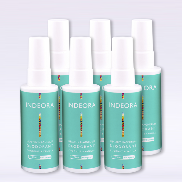 6 unit Wholesale  pack x 4: Healthy Magnesium Deodorant: Coconut & Vanilla