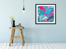 Load image into Gallery viewer, Pink Leaves with Aqua 3