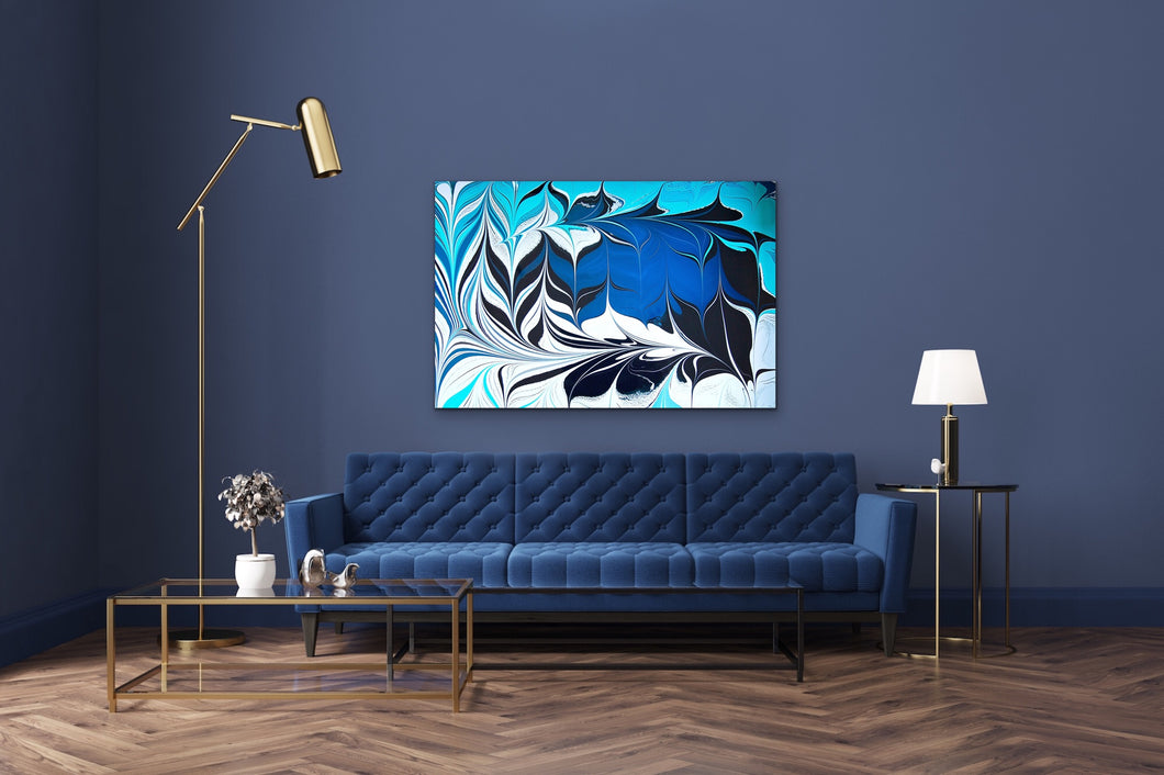 Blue Crossing 9 Wall Art