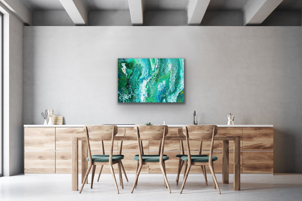 Green Horizon Wall Art