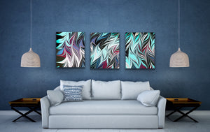 Blue Black Seaweed 2 Wall Art